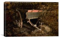 Old Wooden Farm Cart, Canvas Print