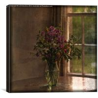 Vase with Flowers, Canvas Print