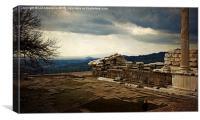 Pergamon - The View , Canvas Print