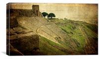 Theatre at Pergamon. , Canvas Print