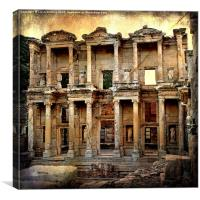 The Library at Ephesus, Canvas Print