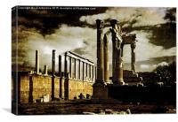 Drama at the Acropolis, Canvas Print