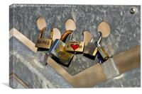 Love Locks 2, Canvas Print