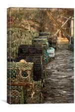 Creels at Crail, Canvas Print