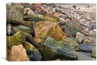 Rocks at The Beach, Canvas Print