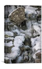 Rhaeadr Idwal Waterfall Fossils, Canvas Print