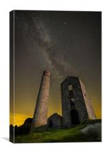 Milky Way Over Old Mine Buildings.No2, Canvas Print