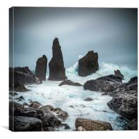 Stormy Iclandic Seas, Canvas Print
