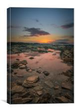 Rock Pool Sunset, Canvas Print