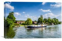 Boating In Marlow, Canvas Print