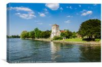 Bisham Church On The Thames, Canvas Print