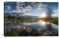 Flooded Marlow At Sunset, Canvas Print