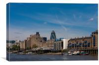London Waterfront, Canvas Print