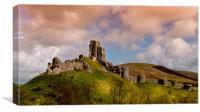 Corfe Castle, Dorset, England, Canvas Print