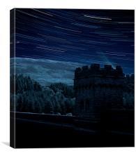 Star trails derwent dam, Canvas Print