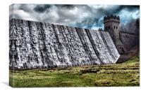 Derwent Dam Overflow, Canvas Print
