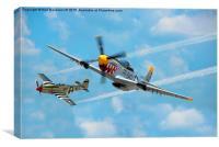 P-51 Mustang, Canvas Print