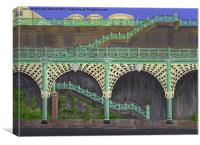 Brighton Victorian Arches, Canvas Print