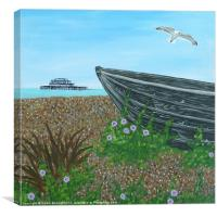 Brighton Beach Boat, Canvas Print