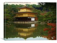 Golden Temple Kyoto, Canvas Print