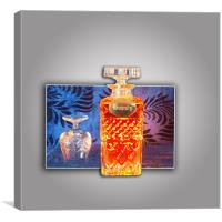 brandy decanter and glass, Canvas Print