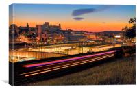Sheffield at Night, Canvas Print