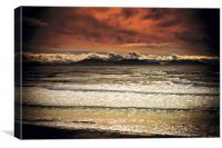 Sea Shore at Llanddwyn Bay, Canvas Print