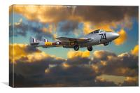 de Havilland Vampire T11, Canvas Print