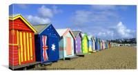 Beach Huts at Brighton, Canvas Print