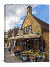 Broadway Deli, Cotswolds, Canvas Print