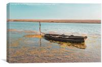 Lone Boat at the Fleet Dorset UK, Canvas Print