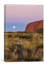 Ghostly Presence at Uluru Sunset, Canvas Print