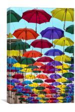 Umbrellas in Bath, UK, Canvas Print