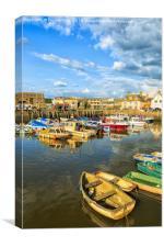West Bay, harbour, Dorset , UK, Canvas Print