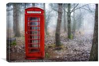 British phone box , Canvas Print