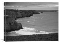North Coast Cornwall, Canvas Print