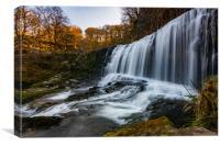 Sgwd isaf clun gwyn Welsh waterfall , Canvas Print