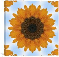 Kaleidoscope Sunflower, Canvas Print