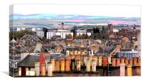 Edinburgh Rooftops, Canvas Print