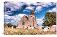 St Clements, Old Romney, Canvas Print