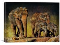 Family Unit, Canvas Print