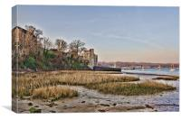 Upnor Castle From The Foreshore, Canvas Print