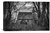 Church In The Woods, Canvas Print