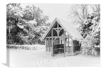 Lychgate In The Snow, Canvas Print