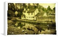 Chequers Inn, Loose, Canvas Print