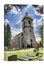 St Lawrence Church West Wycombe, Canvas Print