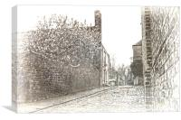 Old High Street Upnor, Canvas Print