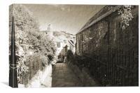 Church Path Hastings, Canvas Print