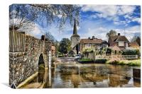 Eynsford - The Bridge and Ford, Canvas Print