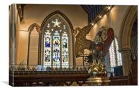 Lectern and chancel, Canvas Print